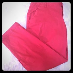 Old Navy low rise straight leg chino in red
